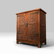 Low Poly Carved Cabinet 3d Model 3d model