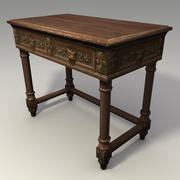 Low Poly Carved Table 3d Model 3d model