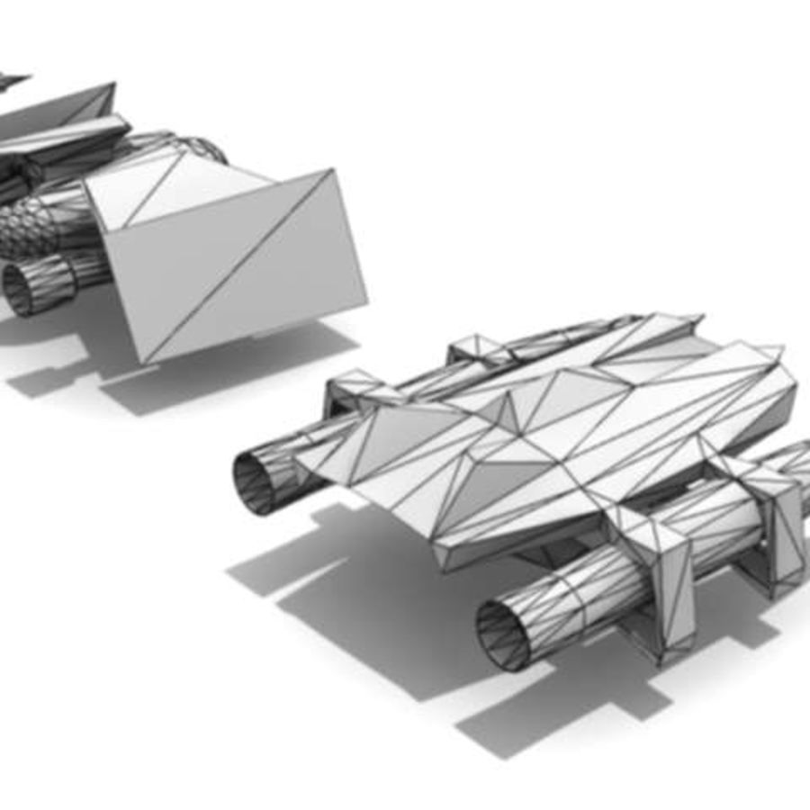 space ships part 1 royalty-free 3d model - Preview no. 6