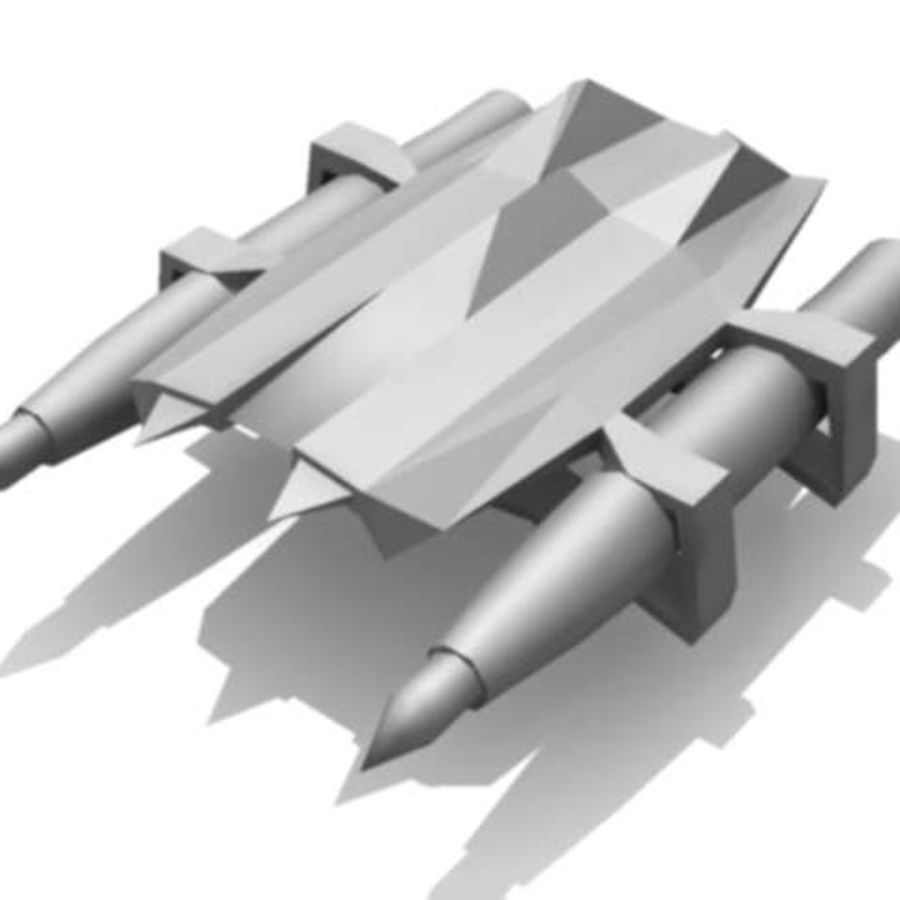 space ships part 1 royalty-free 3d model - Preview no. 5