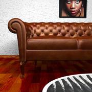 Lather Sofa OXFORD 3d model