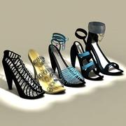Women shoe collection 3d model
