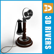 Retro telephone 01 by 3DRivers 3d model
