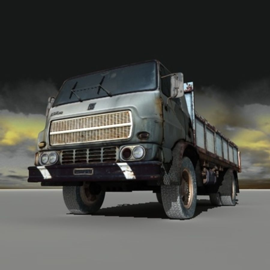 CAMION ANTIGUO royalty-free modelo 3d - Preview no. 3