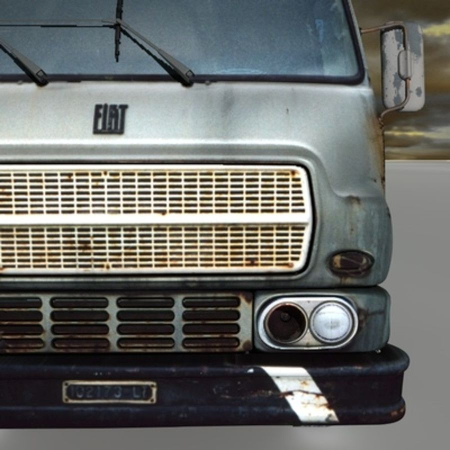 CAMION ANTIGUO royalty-free modelo 3d - Preview no. 10