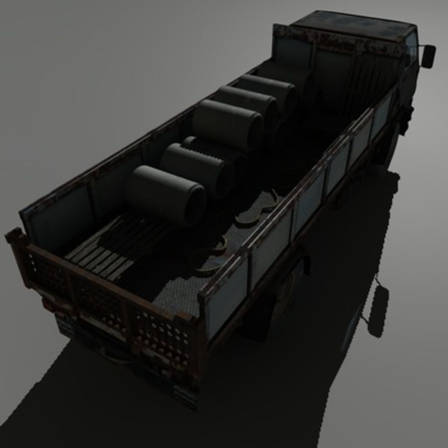 CAMION ANTIGUO royalty-free modelo 3d - Preview no. 12