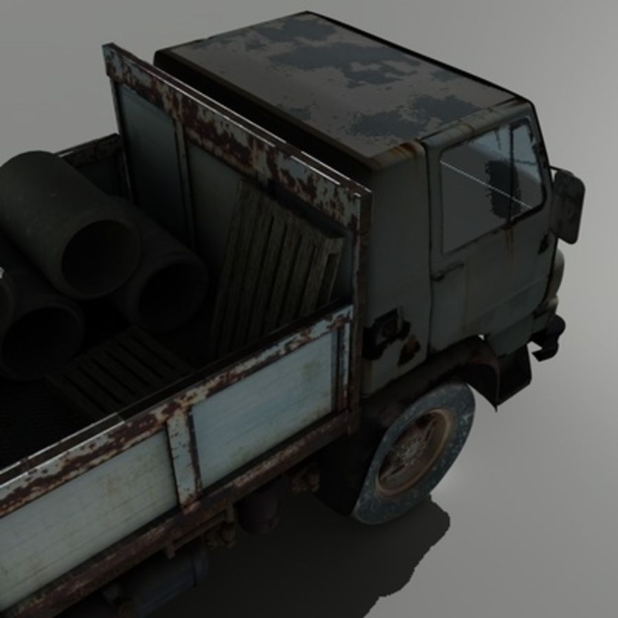 CAMION ANTIGUO royalty-free modelo 3d - Preview no. 9