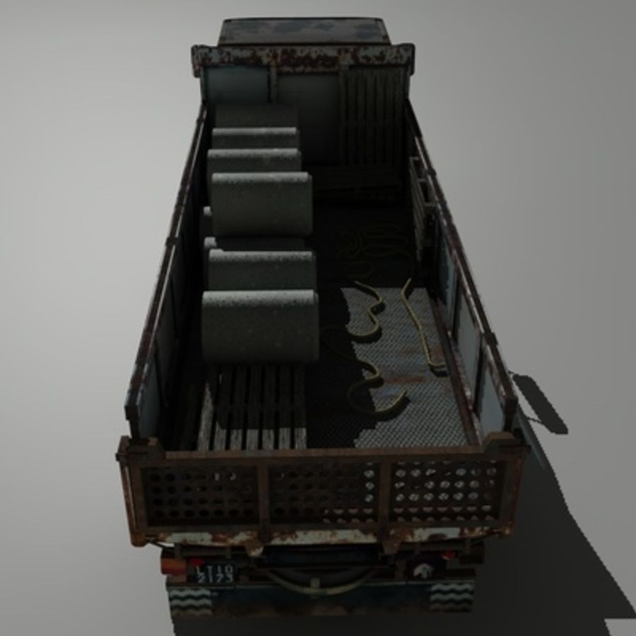 CAMION ANTIGUO royalty-free modelo 3d - Preview no. 8