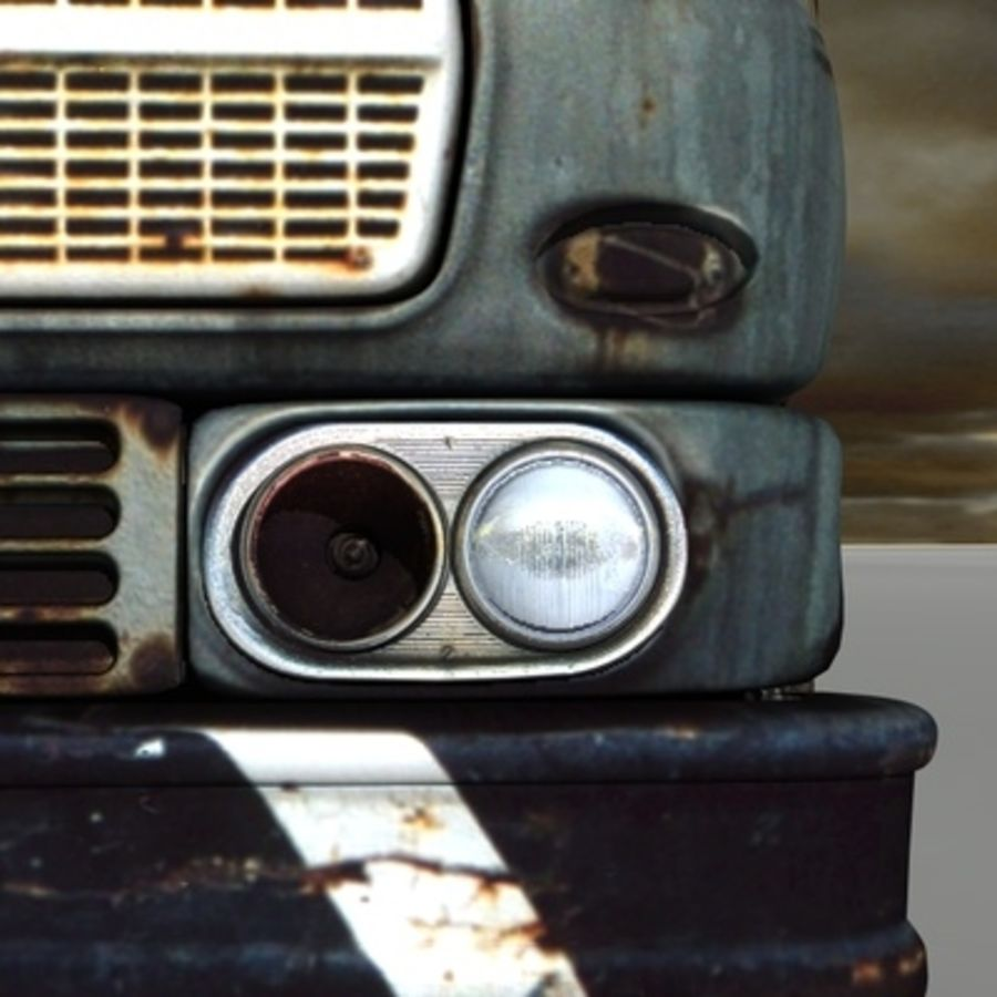 CAMION ANTIGUO royalty-free modelo 3d - Preview no. 11