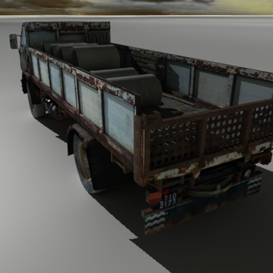 CAMION ANTIGUO royalty-free modelo 3d - Preview no. 4