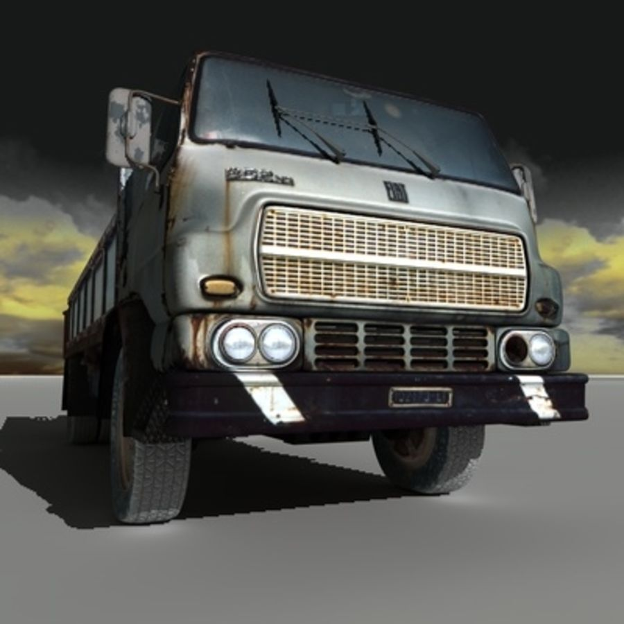 CAMION ANTIGUO royalty-free modelo 3d - Preview no. 7