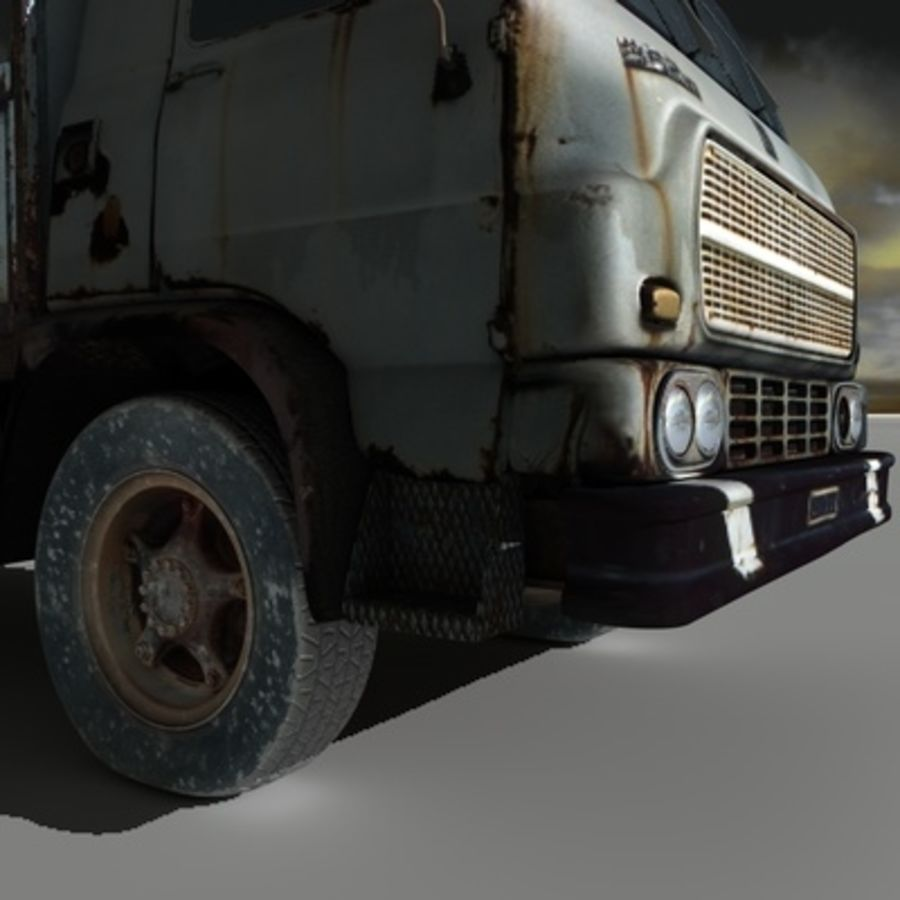 CAMION ANTIGUO royalty-free modelo 3d - Preview no. 5