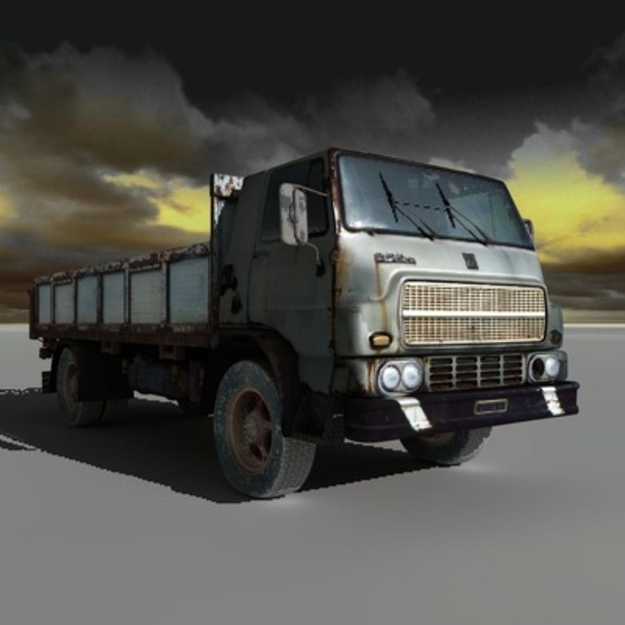 CAMION ANTIGUO royalty-free modelo 3d - Preview no. 2