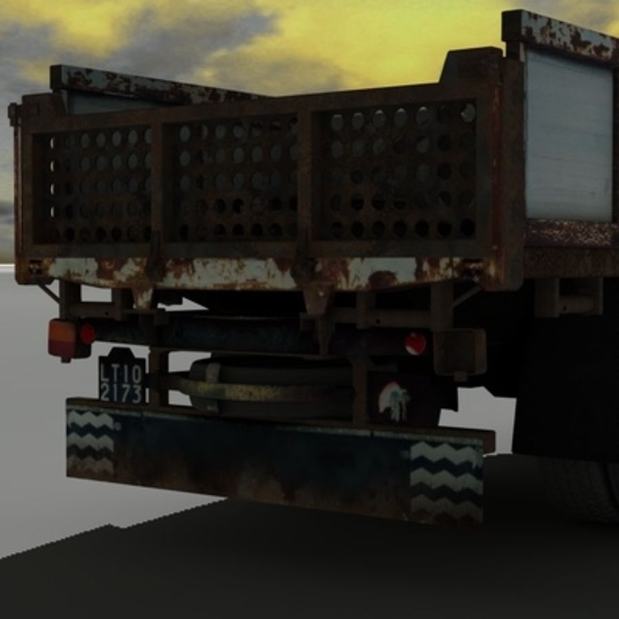 CAMION ANTIGUO royalty-free modelo 3d - Preview no. 13