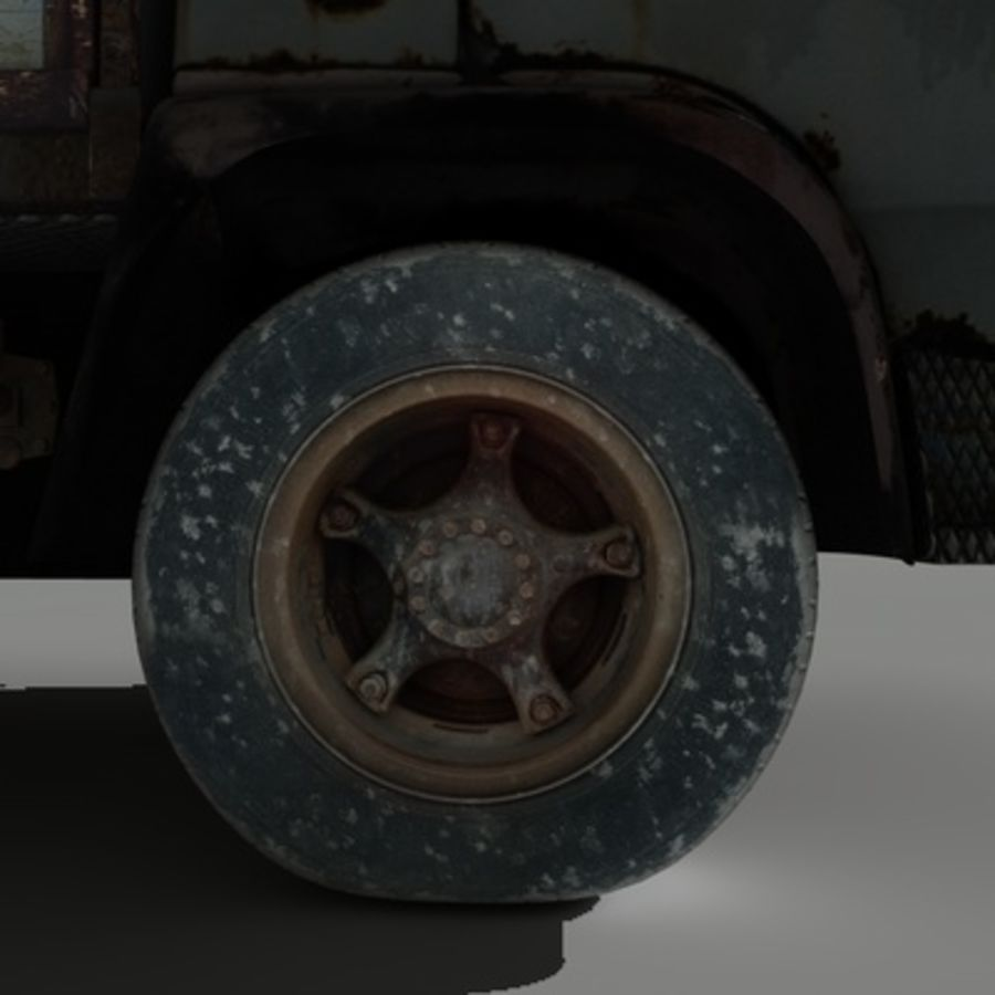 CAMION ANTIGUO royalty-free modelo 3d - Preview no. 6