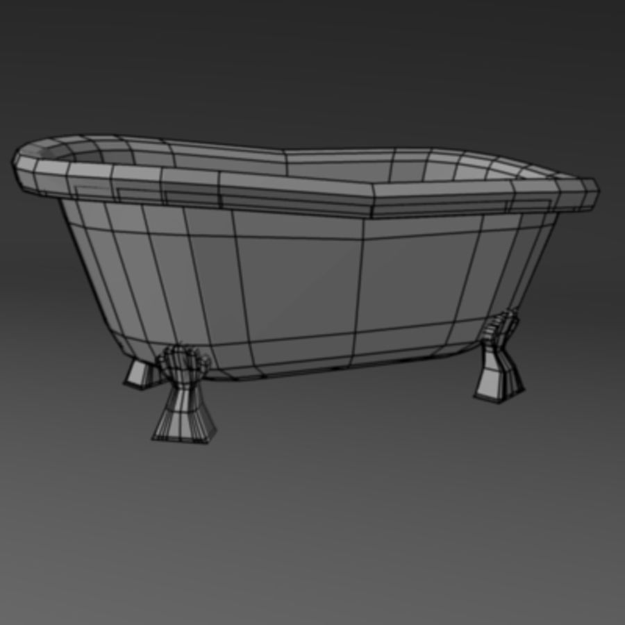 old bath royalty-free 3d model - Preview no. 3