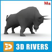 Gul tjur v1 av 3DRivers 3d model