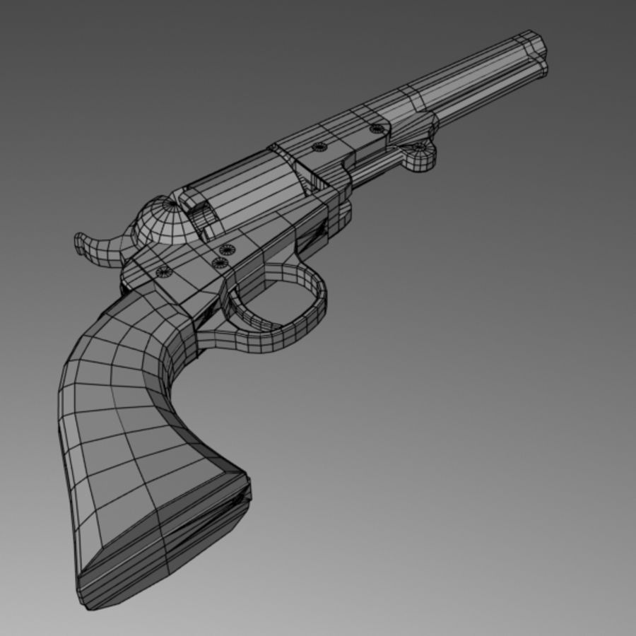Colt 1849 Revolver royalty-free 3d model - Preview no. 8