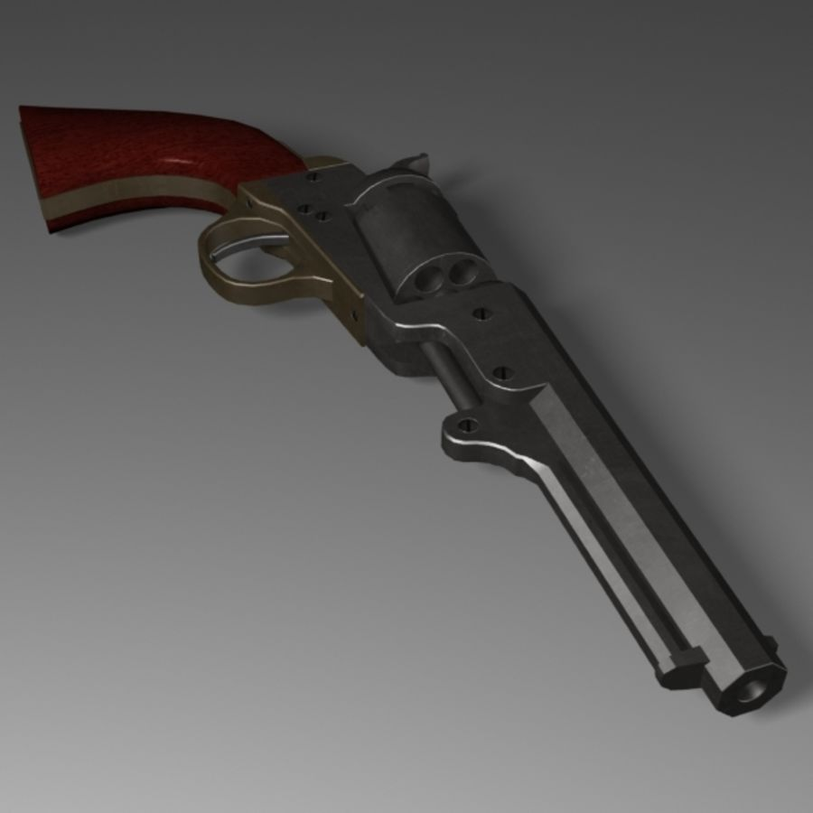 Colt 1849 Revolver royalty-free 3d model - Preview no. 2