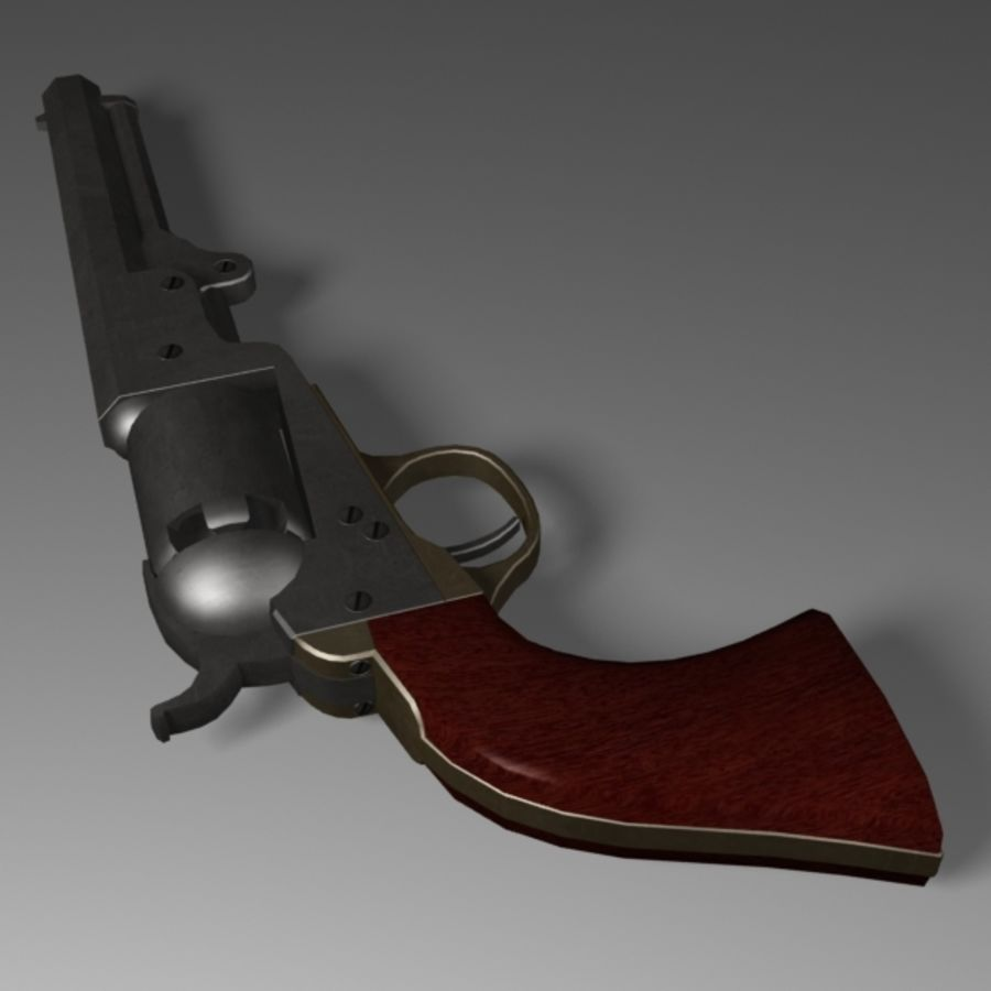 Colt 1849 Revolver royalty-free 3d model - Preview no. 4