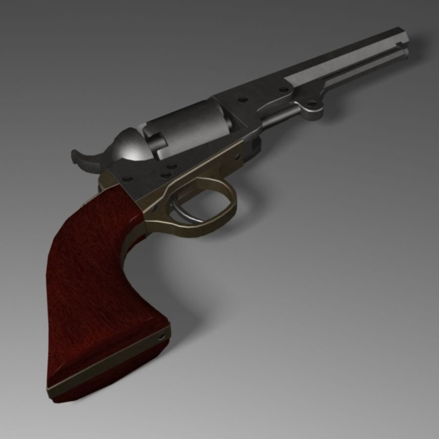 Colt 1849 Revolver royalty-free 3d model - Preview no. 3