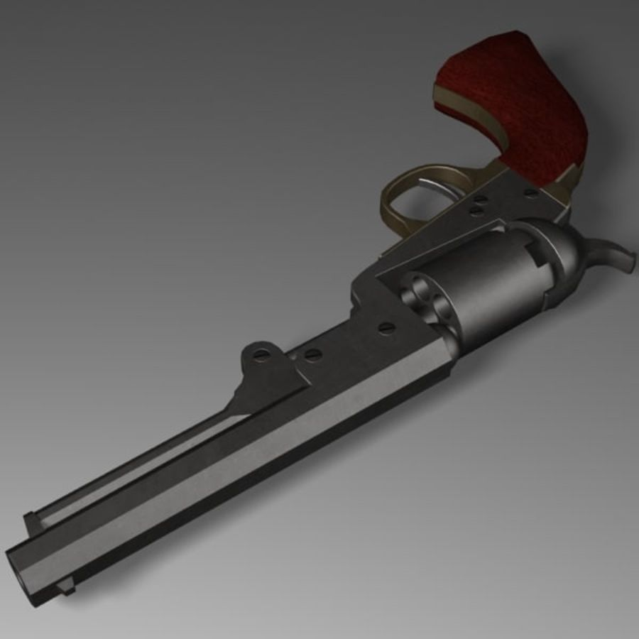 Colt 1849 Revolver royalty-free 3d model - Preview no. 5