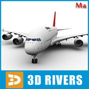 Airbus A380 red kangaroo v1 by 3DRivers 3d model