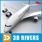 Airbus A380 white v1 by 3DRivers 3d model