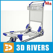 3DRiversによる空港用ハンドカートv1 3d model