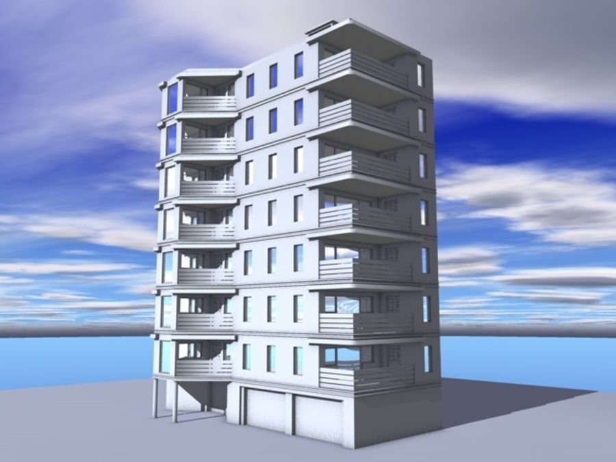 architecture 15 royalty-free 3d model - Preview no. 2