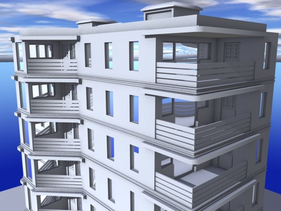 architecture 15 royalty-free 3d model - Preview no. 5