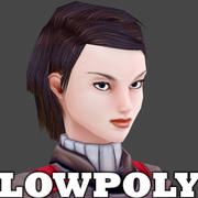 Female Character - low poly model 3d model