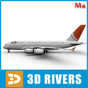 Airbus A380 red tail v1 by 3DRivers 3d model