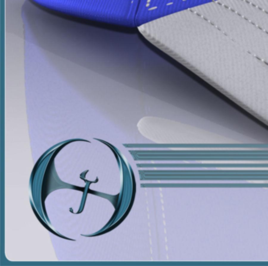 Boné de baseball royalty-free 3d model - Preview no. 11