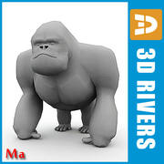 Gorilla v1 by 3DRivers 3d model