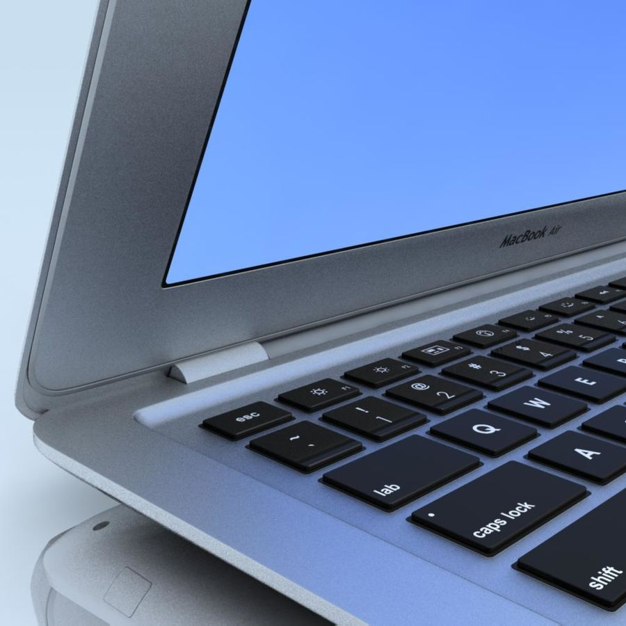 Notebook.APPLE Macbook Air.MAX royalty-free 3d model - Preview no. 7
