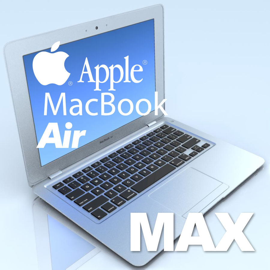 Notebook.APPLE Macbook Air.MAX royalty-free 3d model - Preview no. 1