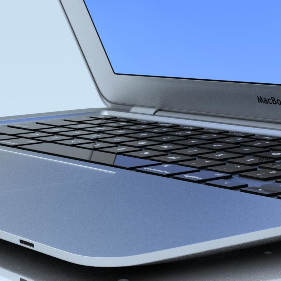 Notebook.APPLE Macbook Air.MAX royalty-free 3d model - Preview no. 6