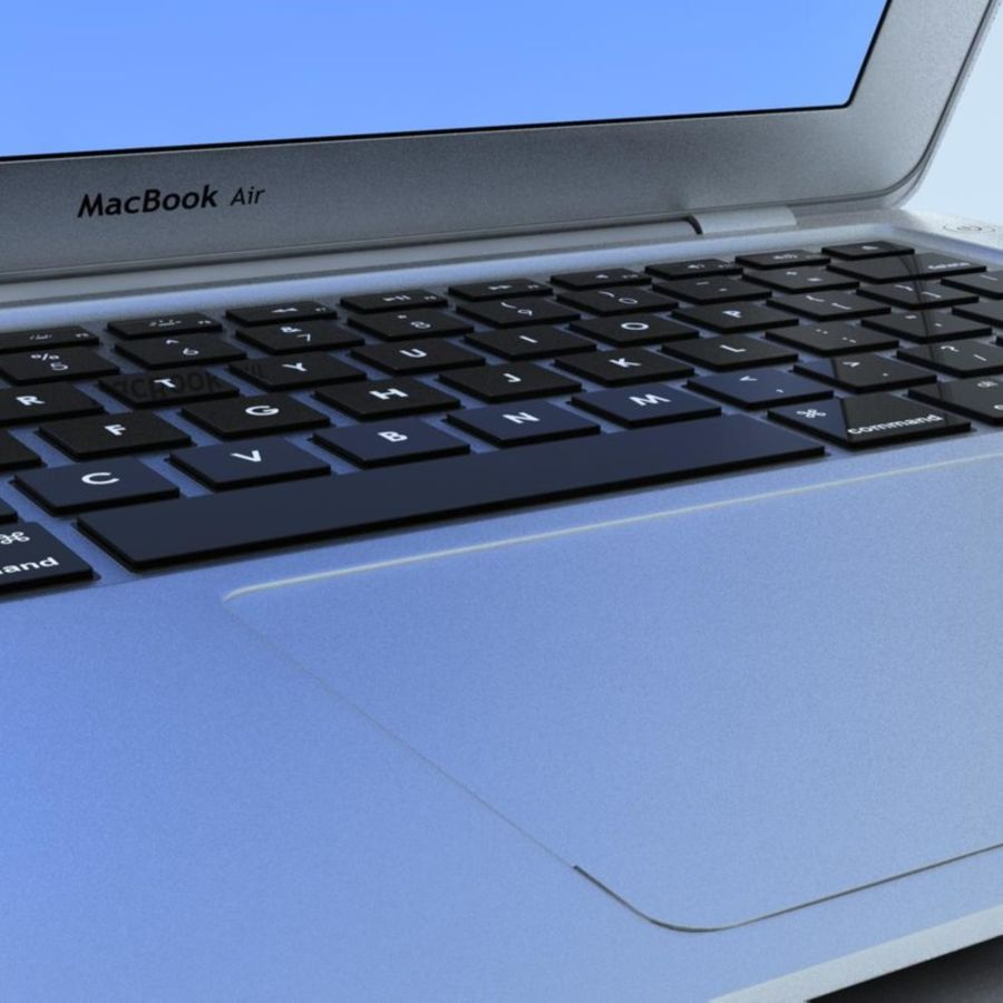 Notebook.APPLE Macbook Air.MAX royalty-free 3d model - Preview no. 24