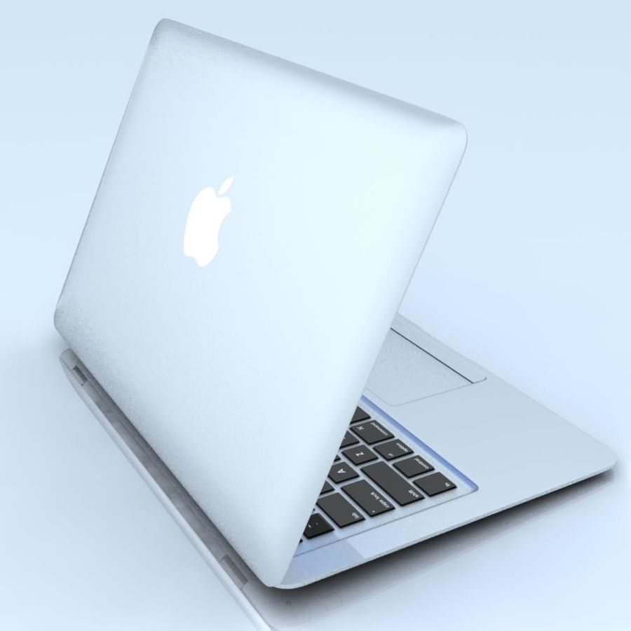 Notebook.APPLE Macbook Air.MAX royalty-free 3d model - Preview no. 4