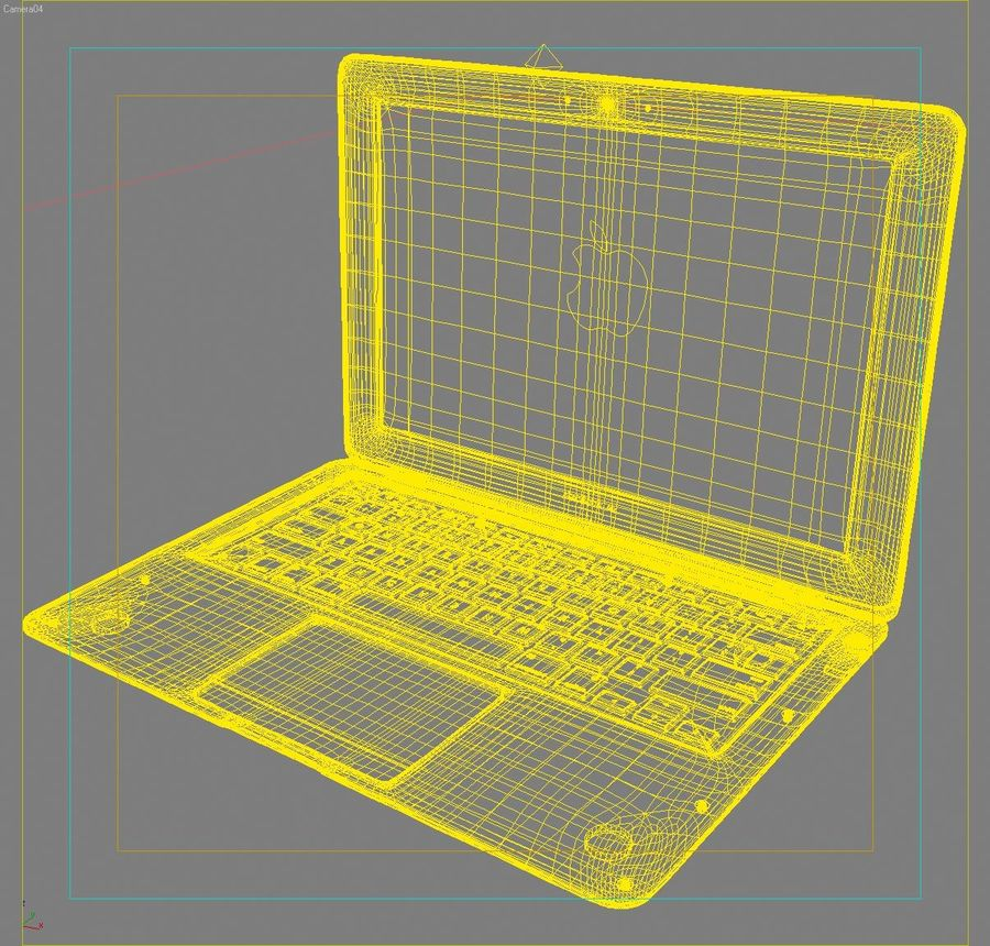 Notebook.APPLE Macbook Air.MAX royalty-free 3d model - Preview no. 17