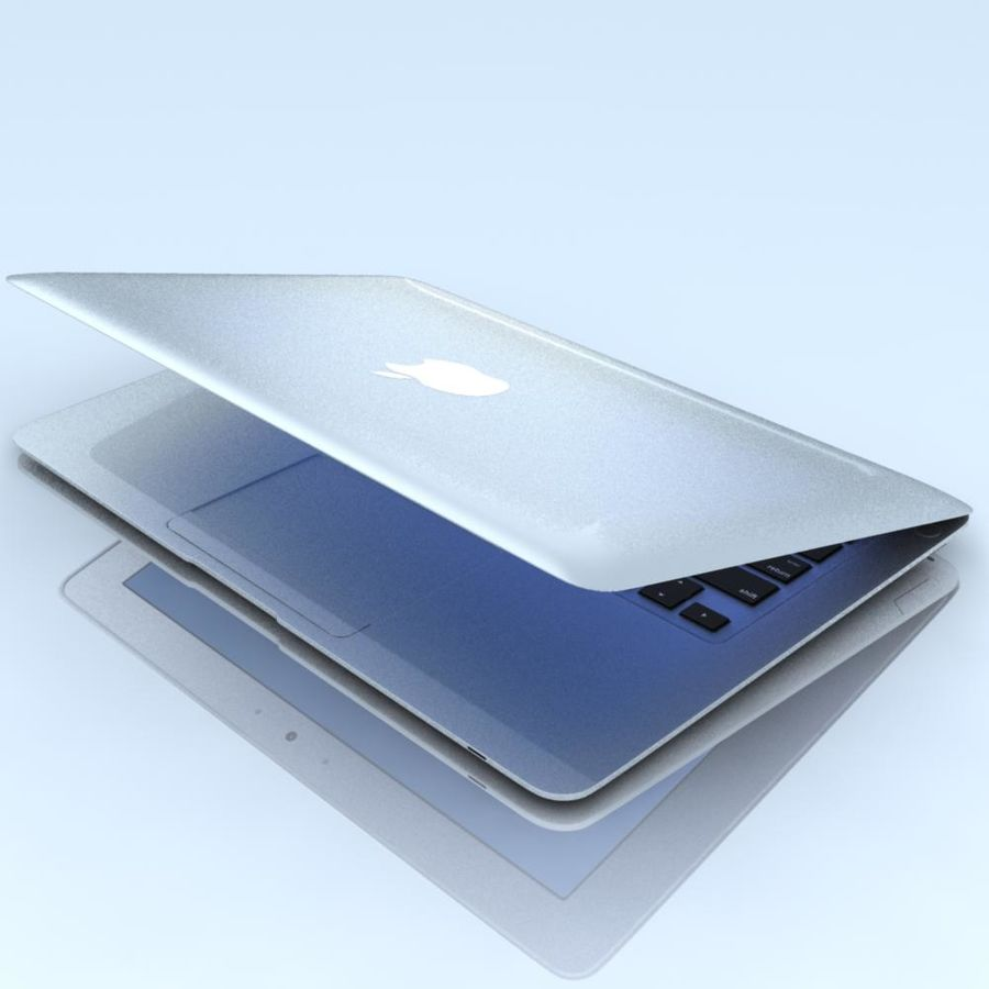 Notebook.APPLE Macbook Air.MAX royalty-free 3d model - Preview no. 9