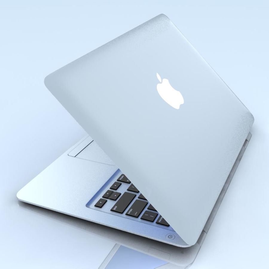 Notebook.APPLE Macbook Air.MAX royalty-free 3d model - Preview no. 5
