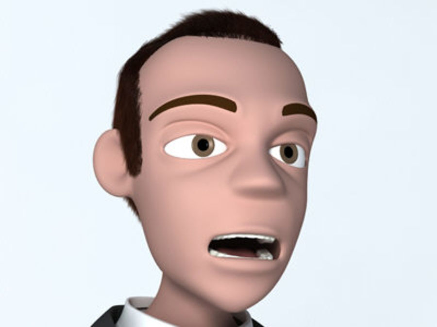 Animation guy 2.5 royalty-free 3d model - Preview no. 19