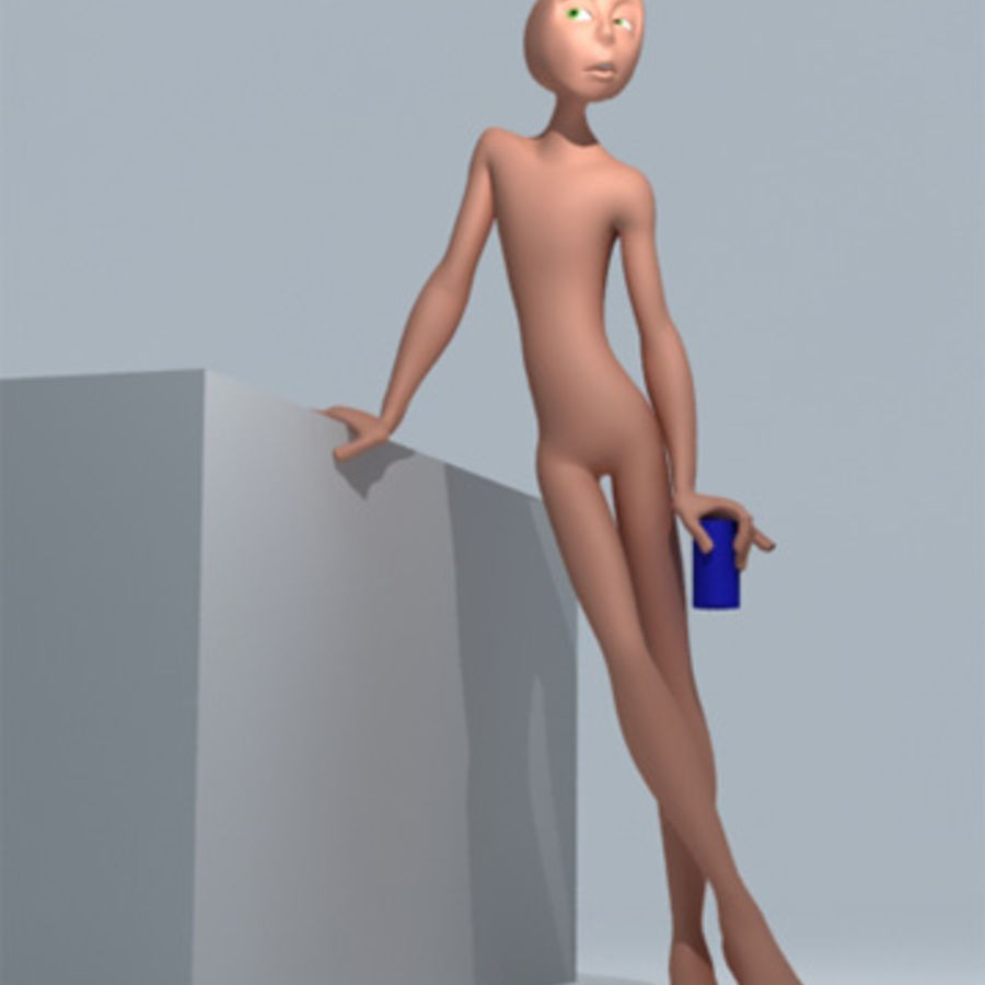 Animation guy 2.5 royalty-free 3d model - Preview no. 3