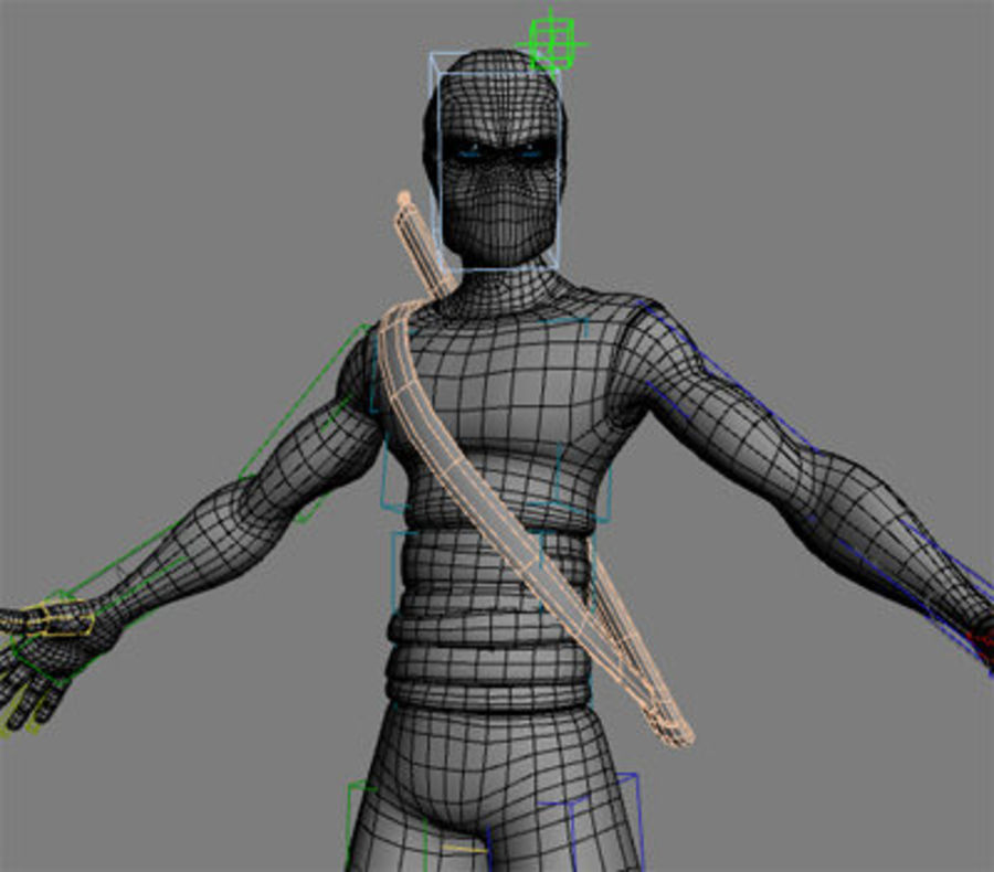 Animation guy 2.5 royalty-free 3d model - Preview no. 21