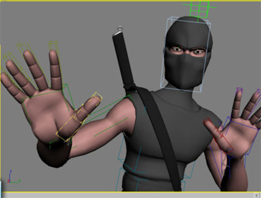 Animation guy 2.5 royalty-free 3d model - Preview no. 22