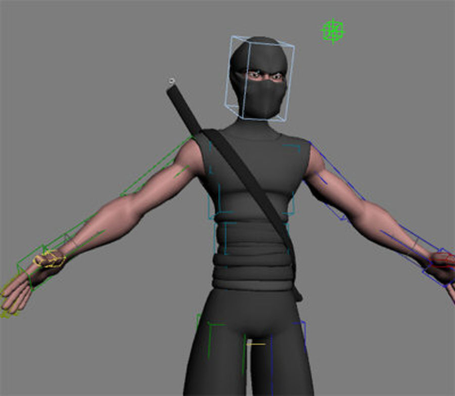 Animation guy 2.5 royalty-free 3d model - Preview no. 23
