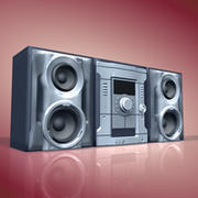 stereo music set 3d model