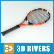 3DRivers网球拍 3d model